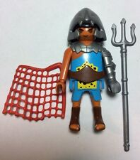Playmobil Personnage ROMAIN Gladiateur 5817 RETIAIRE Trident Filet Gladiator
