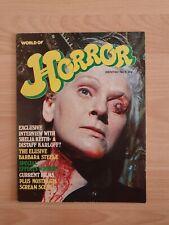 Famous monsters/ British 1970s Monster Magazine World of Horror #9