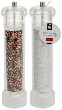 Set of 2 Large Acrylic Salt & Pepper Mill Set Grinder Professional Mills 31cm