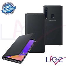 Custodia per Samsung Galaxy A9 2018 A920 Flip Cover a Libro Nero Originale