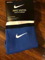 NIKE Dri-Fit Baseball Vapor Stirrup Socks Youth Unisex One Size Fits Most Royal