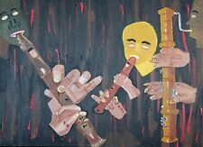"""Recorder Players"" 18 X 24 inches acrylic on stretched canvas by Harry Hallman"
