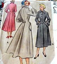 Lovely Vtg 1940s Coat McCall Sewing Pattern 16/34
