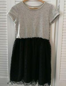 Gap Kids - Girls Gary & Black Netted Skirt Dress Aged 14-16