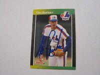 Tim Burke Donruss '89 Autographed Baseball Card