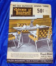 UNUSED 1954 VTG  EASI BILD DIY WOODWORKING CRAFT PATTERN Outdoor Dining Tablr