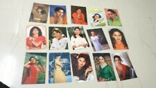 15 Movie's Actors Color Picture Post Cards from Bollywood India  1990