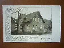Foto-PK Gruss aus Hirschbach mit Gebäuden , gel.1939