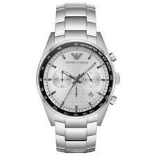 Emporio Armani AR6095 White/Silver Stainless Steel Analog Quartz Men's Watch