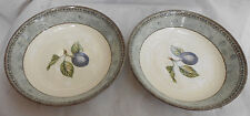 """JOHNSON BROS MANORWOOD COUPE SOUP CEREAL BOWLS 7 3/8 """" ENGLAND FRUIT PLUM  2"""