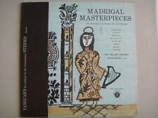 BGS-5031 The Bach Guild, MADRIGAL MASTERPIECES, Alfred Deller, director, STEREO