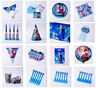 Frozen Girl Kid Birthday Party Tableware Decoration Hat Cup Horn Mask Plate Flag