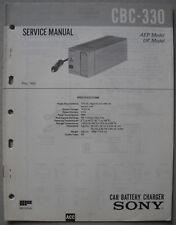 SONY CBC-330 Service Manual