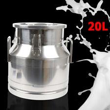20L Stainless Steel Milk Can Bucket Wine Beer Whiskey Storage Tank Barrel Pail