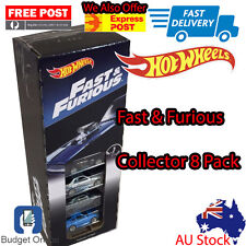 8 x Hot Wheels Fast & Furious Collectors Pack Diecast Toy Cars