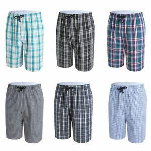 100% Cotton Mens Lounge Shorts Pyjamas Bottoms Night Sleepwear With Pockets