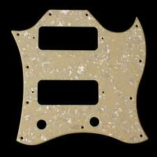 (E94) 1Ply SG Classic Guitar Pickguard With P-90 P90 Pickups Cream Pearloid