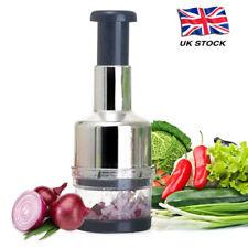 Kitchen Stainless Vegetable Garlic Onion Slicer Pressing Chopper Food Cutter