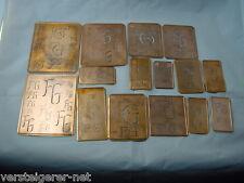 15 x FG Merkenthaler Monogramme, Kupfer Schablonen, Stencils, Patrons broder