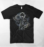 Edward Scissorhands T Shirt Johnny Depp Movie Gardener Plants Flowers Barber