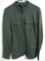 Torrid Womens Plus Size 1 Green Military Style Cotton Button Up Jacket