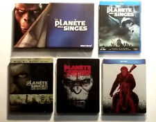 Lot Bluray - Intégrale LA PLANETE DES SINGES ( dont Steelbook 3D ) - 9 films