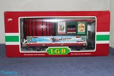 LGB G Scale 31420 Christmas Seasons Greetings Beer Barrel Car w/ Metal Wheels **