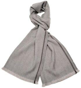 Tom Ford Scarf Wool Brown Herringbone 14SF0102 $450