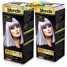 2x Jerome Russell BBlonde Steel Maximum Colour Toner 75ml Non Permanent