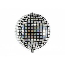 FEBBRE da SFERA SPECCHIATA a Clip Orecchini Globe Dischi Argento Costume Accessorio Nuovo