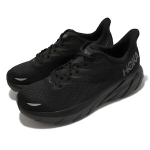 Hoka One One Clifton 8 Black Grey Men Road Running Shoes Sneakers 1119393-BBLC