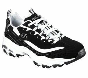 Black White D'Lites Sneaker Mens Skechers Casual Athletic Running sports Shoes