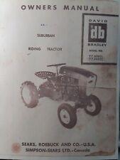 Sears Suburban David Bradley Riding Tractor Amp Mower Owner Amp Parts 2 Manual Sdb