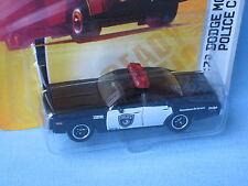 Matchbox Dodge Monaco USA Police Black Classic Retro Toy Model Car 75mm