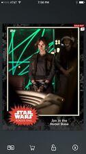 TOPPS Star Wars Card Trader Rogue One Black Jyn in the Rebel Base Award Digital