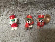 Hallmark Merry Miniature Christmas Bears Drum, tuba, & flute - Music Maker Bears