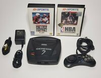 Sega Genesis Model 3 Motherboard W/ Controller Power AV TESTED Works NBA College