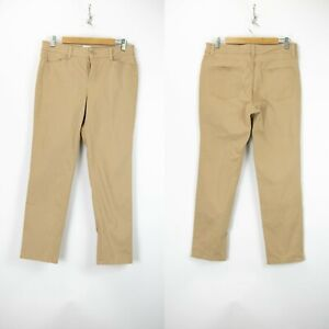 Talbots 10 Petite Womens Tan Signature Straight Leg Denim Jeans