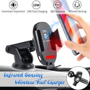 10W Qi Voiture Chargeur Rapide Sans Fil Induction Support Pr Téléphone
