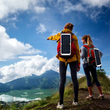 Solar panel mobile phone camping backpack camping battery charger motors laptop