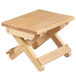 Pine Wood Folding Stool Kids Furniture Portable Household Solid Wood Small Bench