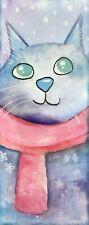 Bookmark laminated artwork, Cat By Kenna