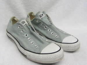 CONVERSE ALL STAR SHOES Men Sz 8 Canvas GREEN or Women Size 10 NO NEED FOR LACES