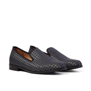 NEW Men's DUKE + DEXTER Stealth Houndstooth Loafer Shoe Black UK 10RRP £200