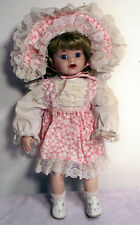 """14"""" Porcelain Girl Doll Complete with Clothing and Shoes"""