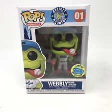 Funko Pop! Everett Aquasox Mascot Frogs Jersey Webbly - LIMITED EDITION 5000 PCS