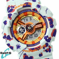 CASIO BABY-G LADIES WATCH BA-110FL-3A FREE EXPRESS FLOWER LEOPARD BA-110FL-3ADR
