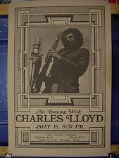 RARE / '70 FILLMORE ERA ORIGINAL ARTWORK PLUS 2 CHARLES LLOYD  CONCERT POSTERS