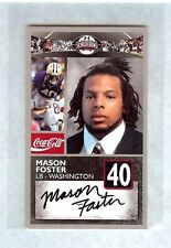 MASON FOSTER 2010 SENIOR BOWL WASHINGTON HUSKIES ROOKIE CARD WASHINGTON REDSKINS