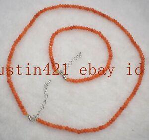 2x4mm Faceted Yellow Topaz Aquamarine Gemstones Beads Necklace Bracelet 18/8''